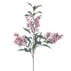 Rama flores Adelfa Rosa tejido 90 cm
